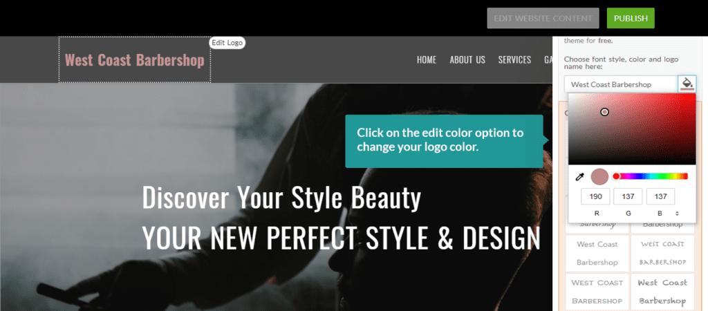 Edit Logo Color